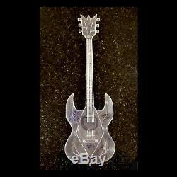 Ozzy, Slash, Roger Waters & Jon Bon Jovi Signée À La Main Autographs Air Guitar + Coa