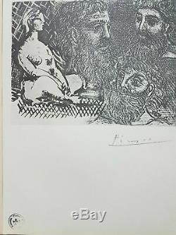 Pablo Picasso Deux Lithographies 1956 Main Vollard Suite Signée Au Crayon