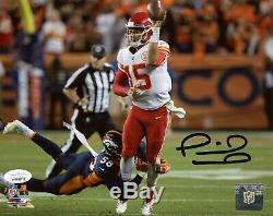 Patrick Mahomes Autographed Kansas City Chiefs Gaucher Pass 8x10 Photo Jsa