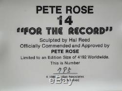 Pete Rose Signée À La Main Autographié Gartlan Statue Box Reds Phillies