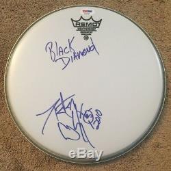 Peter Criss Signée À La Main Head Kiss Drum Autographié Psa Adn Certifié Avec Paroles