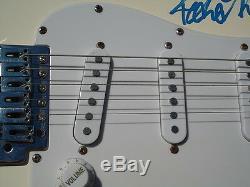Peter Frampton Guitare Crème Signée À La Main Jsa Loa # Y01757, Autographe Authentifié