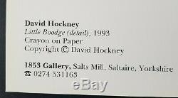 Peu Boodge Par L'artiste David Hockney Signée À La Main Autographe Sur Les Gros Caractères