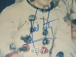 Photo Du Portrait Wss Authentiquement Signé À La Main Signé Par Un Équipage D'apollo 11: Papier Kodak De La Nasa