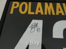 Pittsburgh Steelers Troy Polamalu Autographié Signée À La Main Jersey Noir Avec Coa