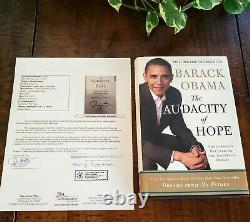 Président Barack Obama Hand Signé L'audace De L'espoir Livre Jsa Loa