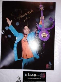Prince-signé À La Main Autographié 2007 Superbowl Mi-temps Afficher 8x10 Wcoa Tres Rare