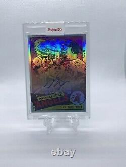 Projet Topps 70 Mike Trout Auto Gpk Adam Bomb Card 357 Par Ermsy 17/70 In-hand