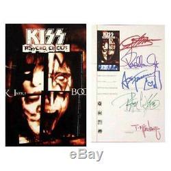 Psycho Circus Livre 1 Signée À La Main Band & Todd Mcfarlane Kiss Band Autograph