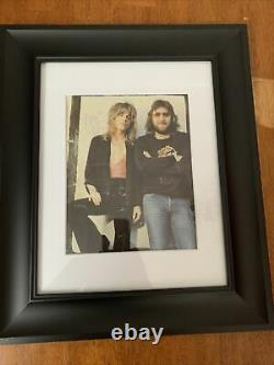 Randy Rhoads Hand Signed Autographed Framed 8x10 Image Coa Ozzy Guitariste Rare