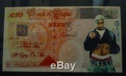 Rappeur Légendaire Tupac 2pac Shakur Autographe Signé À La Main