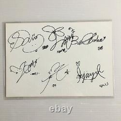Rare Gfriend Tous Les Membres Signé À La Main Autographe Inkigayo Carte De Diffusion Eunha
