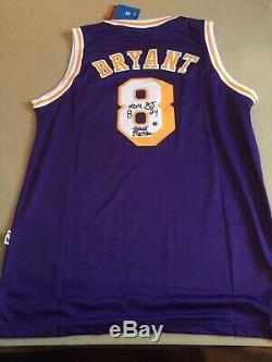 Rare Kobe Bryant Signée À La Main Autographiés Black Mamba Jersey La Lakers Avec Coa