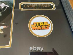 Rare Signed Carrie Fisher Star Wars Framed Hand Signed Autographed8x10 Photo Coa