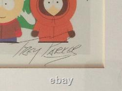 Rare South Park Limited Edition Lithographie Main Signé Autographes Comedy Central