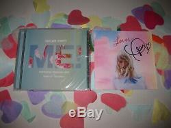 Rare Taylor Swift Autographié Signée À La Main Livret + Amant Me! CD Single Avec Coa