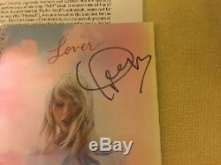 Rare Taylor Swift Autographié Signée À La Main + Livret Amant Me! CD Single Avec Coa
