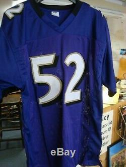 Ray Lewis Signée Autographiée Ravens Baltimore Autographiée Violet XL Jersey Jsa Coa