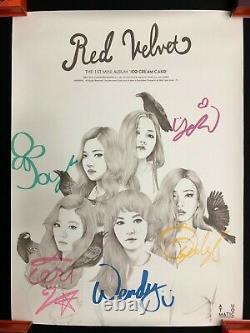Red Velvet Autographié Ice Cream Cake Affiche Promotionnelle Signée À La Main