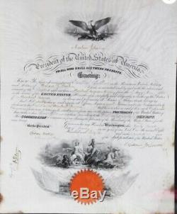 Rendez-vous Naval Andrew Johnson - Rare Signé À La Main, Pas De Timbre