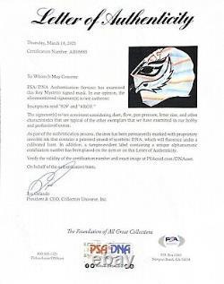 Rey Mysterio Jr 619 Racines Signées À La Main De Combat Masque De Lutte Avec Psa Coa Loa