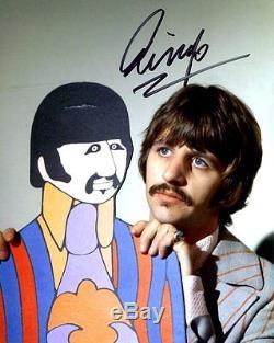 Ringo Starr Hand Signed Photo 8x10 Très Rare La Beatles Coa Jsa