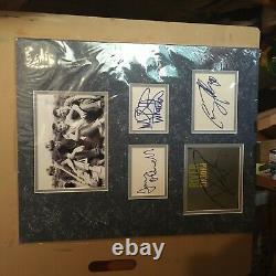 Rivière Phoenix + 3 Main Cast Signé Autographes Stephen King Affichage Uacc Rd
