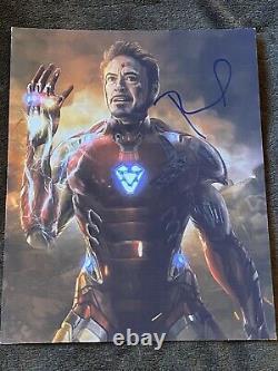 Robert Downey Jr Iron Man Marvel Main Signée Autographe 8x10 Photo Gai Coa