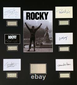 Rocky Sylvester Stallone Cadre Monté À La Main Signé
