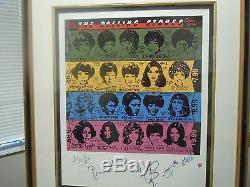 Rolling Stones Autographs 12 90 Epuisé Signée À La Main Some Girls Imprimer Beatles