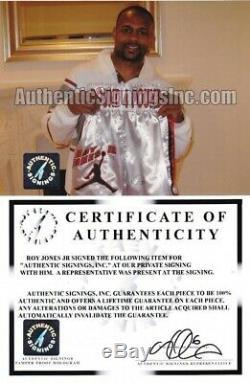 Roy Jones Jr Trunks Autographiés Et Signés À La Main Avec Preuve Photo Et Coa