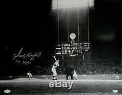 Sandy Koufax Signée À La Main Autographed16x20 Dodgers Photo P. G. 09/09/65 Jsa Lettre