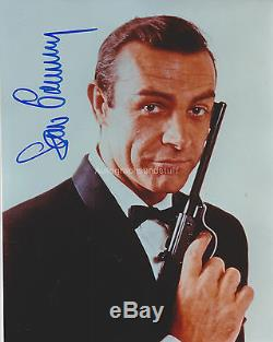 Sean Connery Signée À La Main Photo 8x10, Autograph, James Bond, Goldfinger, 007