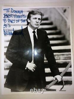 Sharpie Signature Président Donald Trump Main Signée Photo Autographiée À Donna