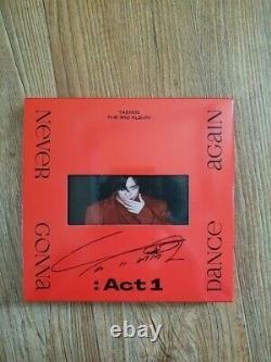 Shinee Taemin Promo Album Autographié Signé À La Main