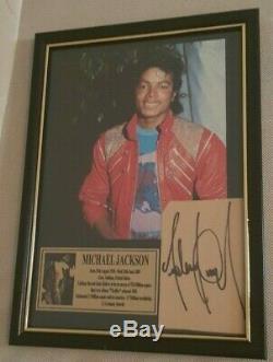 Signé À La Main Par Michael Jackson Avec Coa Rare Gold Autographed Autographed Display