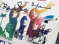 Signé X 4 Abba Autograph De L'album Signé À La Main Japon Agnetha Annifrid Bjorn Benny