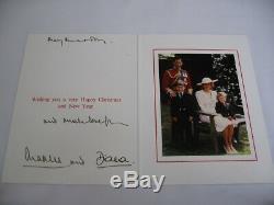 Signée À La Main Et Le Prince Charles Princesse Diana Carte De Noël