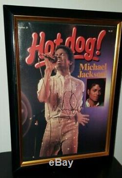 Signée À La Main Par Michael Jackson Avec Coa Encadrée Hotdog Magazine Autographié