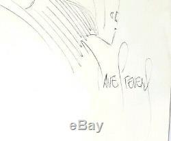 Signée À La Main Tirée Par The Stevens Dave Rocketeer Casque Sketch Art Comic Autograph