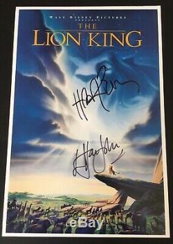 Sir Elton John Hans Zimmer Signé À La Main Le Roi Lion Photo Rare Cercle De La Vie