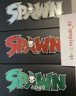 Spawn Kickstarter 3 Pack Trilogy Todd Mcfarlane Autographié. En Main ! Navire Libre