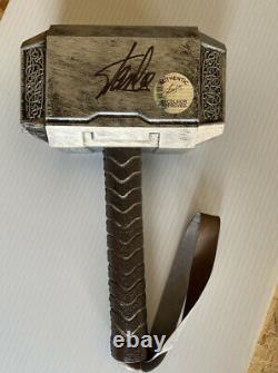 Stan Lee Hand Signed Thor Hammer Autograph Display Piece Coa Photo Mjolnir