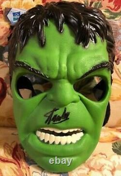 Stan Lee Signé À La Main Masque Hulk Incroyable Autographié Avec Excelsior & Psa Coa