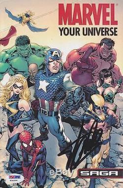 Stan Lee Signée À La Main Marvel Universe Votre Magazine Autograph Spiderman Hulk Psa