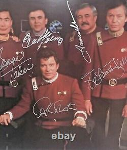 Star Trek Cast Heroes De La Dernière Frontière Signée Photo 1334/2500 Coa Nouveau
