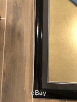 Star Trek Leonard Nimoy Signée À La Main Jersey- Professionnellement Framed- Jsa Coa