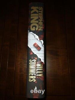 Stephen King 1ère Édition Billy Summers Livre Autographié Et Signé À La Main
