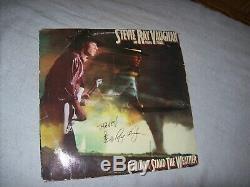 Stevie Ray Vaughan, Autographiée Et Signée À La Main, Ne Supporte Pas Le Disque Lp