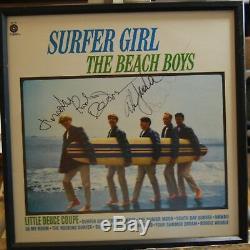 Surfer Girl Signée Main Boys Beach Boys Autographiée Capital Records